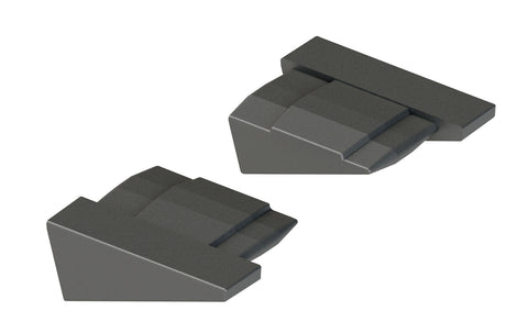End Plug Pair for ExpertSystem XL AP-3020 Black Angled Aluminium Mounting Rail