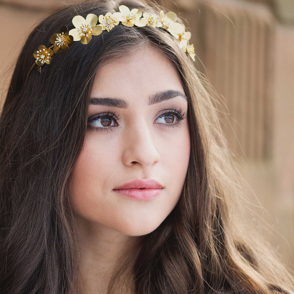 ESME Golden Flower Alice Bridal Band