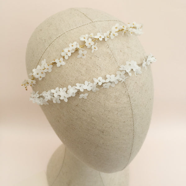 CAMILLA Tiny White Flower Bandeau