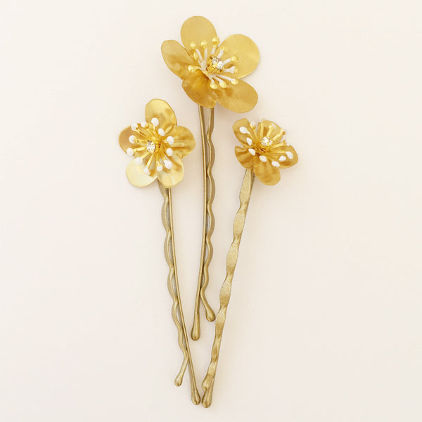 ASTORIA FLOWER PINS Bridal Flower Hair Pins - Fifth & Spring