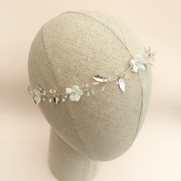 JASMINE SILVER Beautifully Beaded Boho Hair Vine - Fifth & Spring