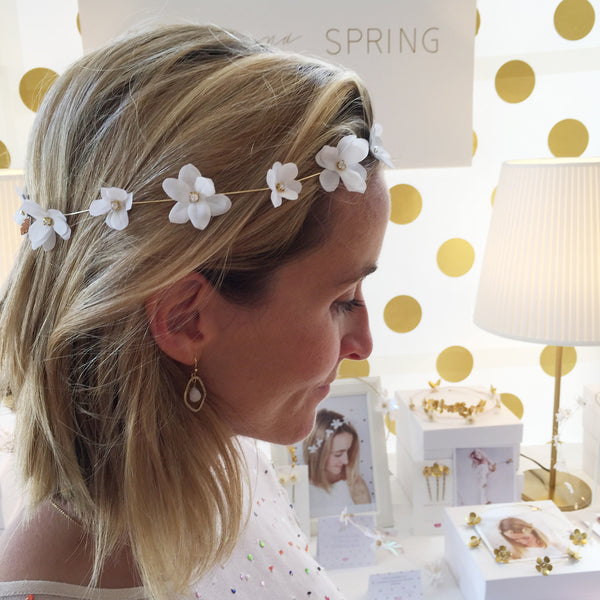 LILY Blossom Silk Flower Halo - Fifth & Spring