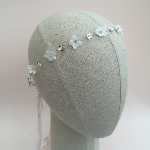 REBECCA Blush And White Bridal Headpiece - Fifth & Spring