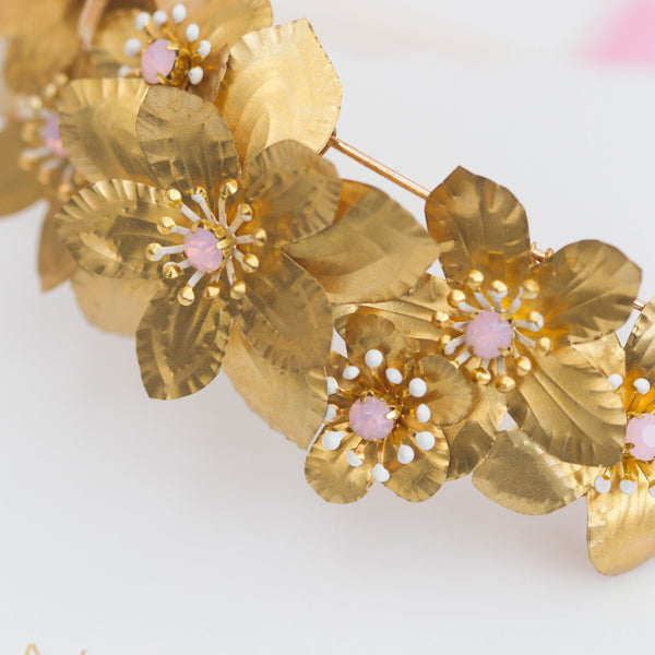 RUBY Golden Flower Bridal Alice Band - Fifth & Spring