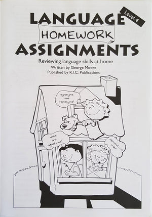 Language Homework Assignments - Level 4 (Ages 8-9)