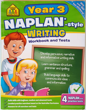 School Zone - NAPLAN* Style Year 3 Writing Workbook and Tests