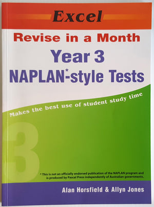 Excel: Revise in a Month : Year 3 NAPLAN Style Tests