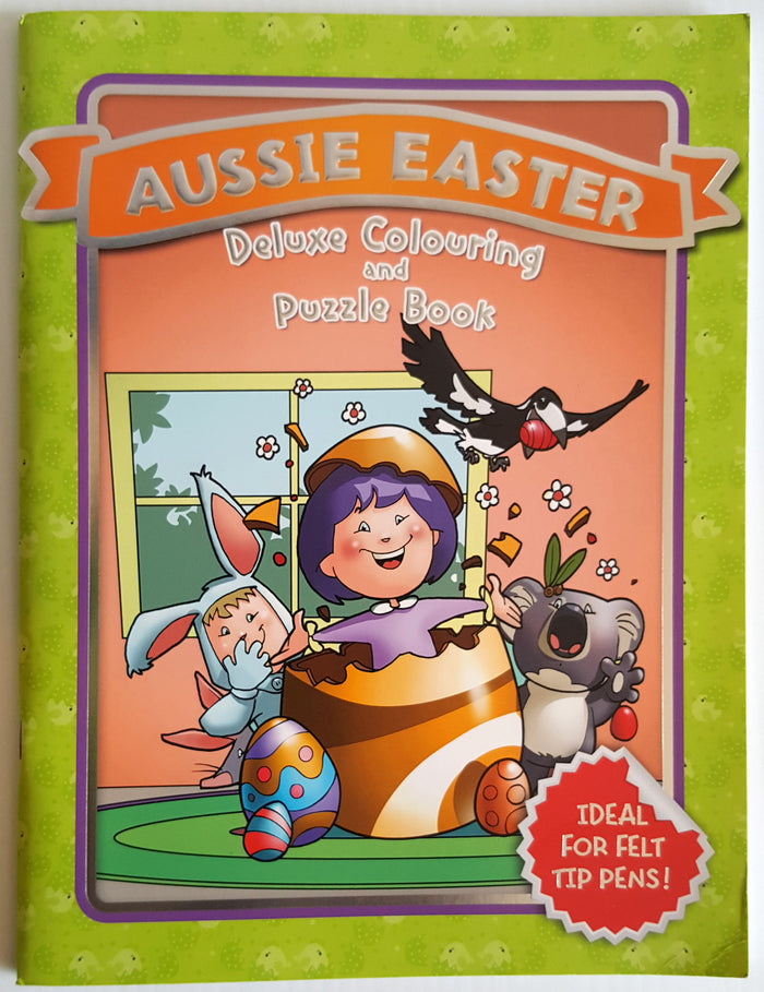 Aussie Easter Duluxe Colouring and Puzzle Book