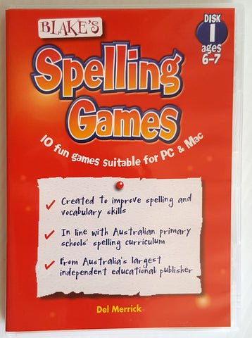 Blake's Spelling Games : 10 fun games suitable for PC & Mac (Ages 6-7)