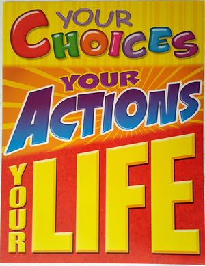 Motivational Poster - Your Choices  Your Actions Your Life