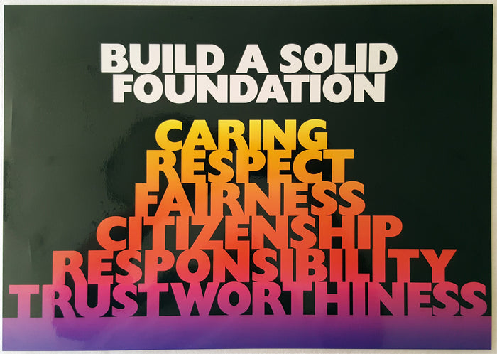 Motivational Poster - Build a Solid Foundation.... (Laminated)
