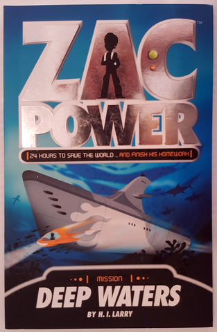 ZAC POWER : SHIPWRECK - H. I. Larry (Softcover, 2009, Free Postage)