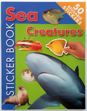 Sea Creatures Sticker Book (50 resusable stickers) * NEW