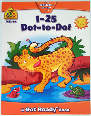 School Zone - 1-25 Dot-to-Dot 'Duluxe Edition' - Ages 4 to 6