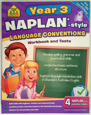School Zone - NAPLAN* Style Year 3 Language Conventions Workbook & Tests