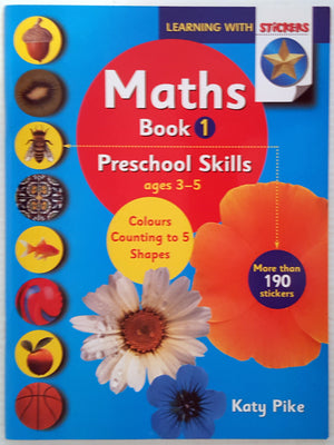 Maths Book 1 - Preschool Skills (Colours, Counting to 5, Shapes)