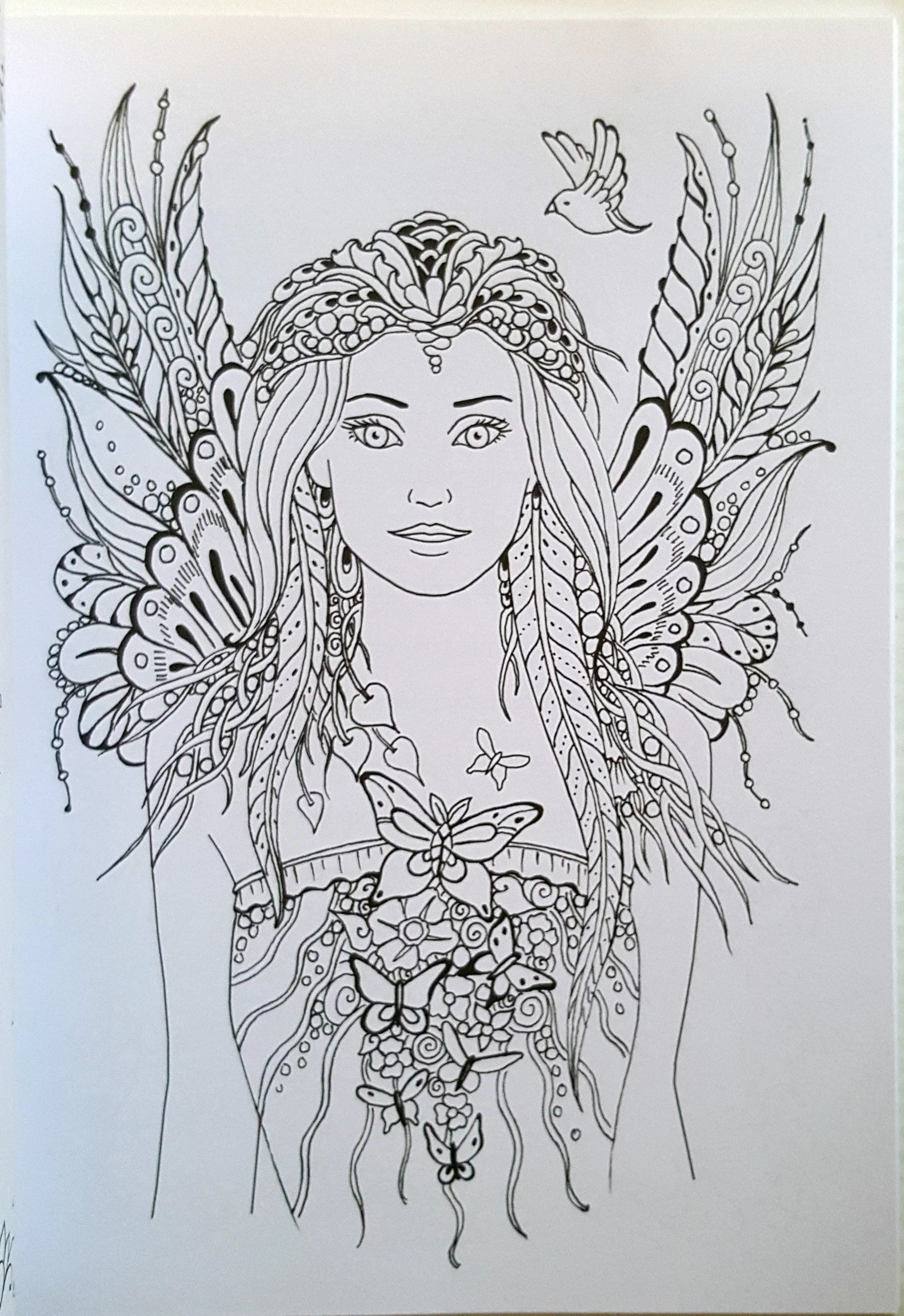 Messages from the Fairies Colouring Book – Thrifty Teachers