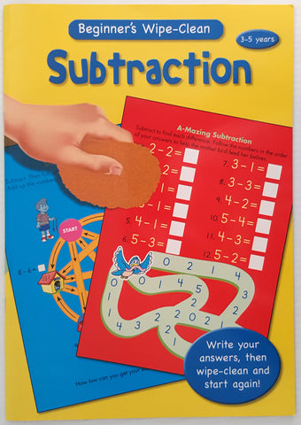Beginner's Wipe Clean - Subtraction (Ages 3 to 5)