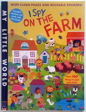 I Spy on the Farm (wipe clean pages & reusable stickers)