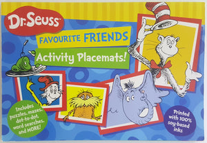 Dr Seuss : Favourite Friends Activity Placemats!