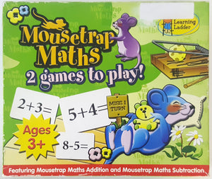 Mousetrap Maths - 2 Games to Play (Addition & Subtraction) - Ages 3+