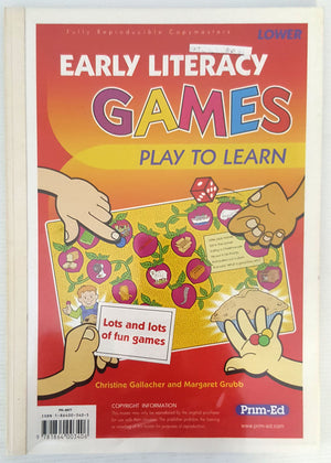 Early Literacy Games : Play to Learn - (Ages 5 to 7)