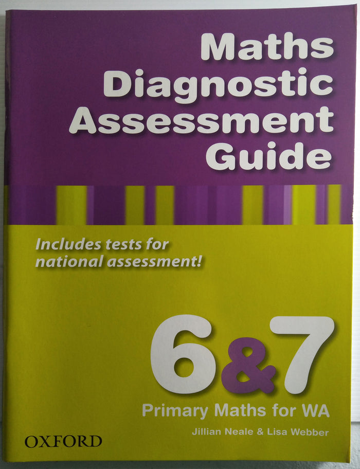 Primary Maths for WA - Maths Diagnostic Assessment Guide 6 & 7