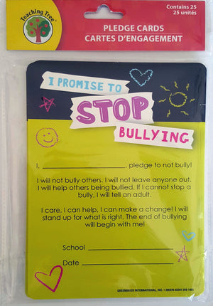 I Promise to Stop Bullying!  Pledge Cards x 25 Cards  *NEW