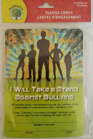 I Will Take a Stand Against Bullying  Pledge Cards x 25 Cards  *NEW