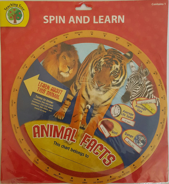 Spin and Learn - Animal Facts     *NEW