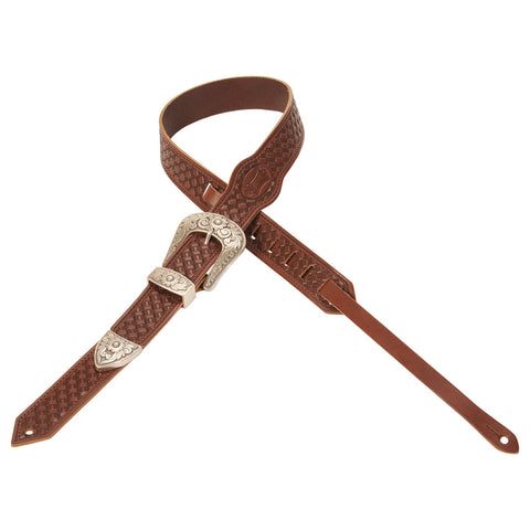 Levy's MV71-WAL Country/Western Series Guitar Strap, Walnut