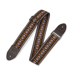 Levy's M8HTV-20 Print Series Strap, Orange & Brown Motif
