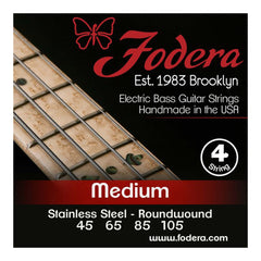 Fodera 4-String 45-105 Bass Strings, Stainless Steel