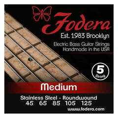 Fodera 5-String 45-125 Bass Strings, Stainless Steel
