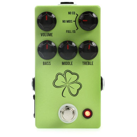 JHS The Clover Preamp Pedal, front closeup