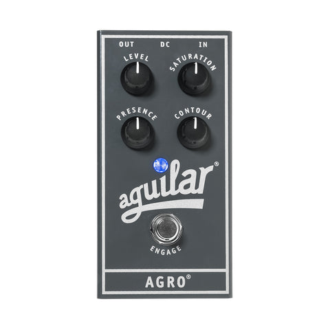 Aguilar Agro Bass Overdrive Pedal, front closeup