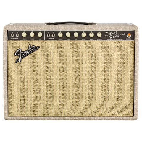 Fender '65 Deluxe Reverb Amplifier, Fawn, front