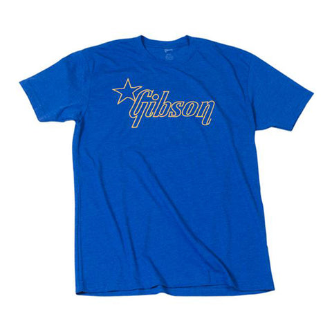 Gibson Star Logo T-Shirt, XL, Blue
