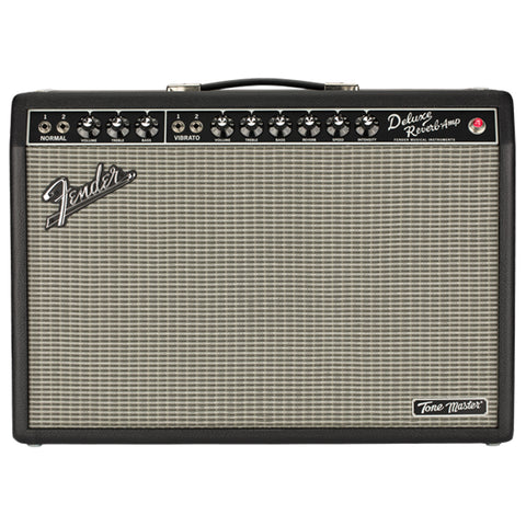 Fender Tone Master Deluxe Reverb Amplifier, Black, front