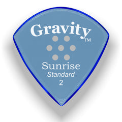 Gravity Picks Sunrise Standard Multi-Hole Polished Pick, 2mm, Blue