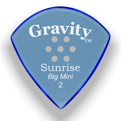 Gravity Picks Sunrise Big Mini Multi-Hole Polished Pick, 2mm, Blue