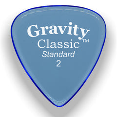 Gravity Picks Classic Standard Polished Pick, 2mm, Blue
