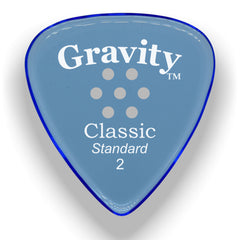 Gravity Picks Classic Standard Multi-Hole Polished Pick, 2mm, Blue