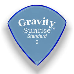 Gravity Picks Sunrise Standard Polished Pick, 2mm, Blue