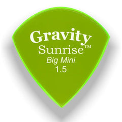 Gravity Picks Sunrise Big Mini Polished Pick, 1.5mm, Florescent Green