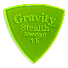 Gravity Picks Stealth Standard Polished Pick, 1.5mm, Florescent Green