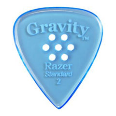 Gravity Picks Razer Standard Polished Multi-Hole Pick, 2mm, Blue