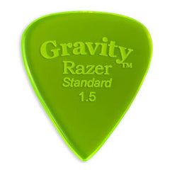 Gravity Picks Razer Standard Polished Pick, 1.5mm, Florescent Green