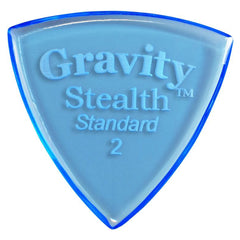 Gravity Picks Stealth Standard Polished Pick, 2mm, Blue