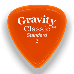 Gravity Picks Classic Standard Polished Pick, 3mm, Orange